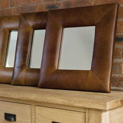 Click here to View our selection of ready made Leather and Suede Designs for Mirrors