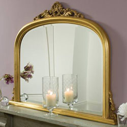 Click here to View Our selections of Gold Overmantle Mirrors