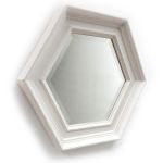 Stunning Shabby Chic Hexagonal Frame with Bevelled Mirror