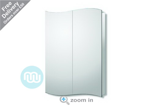Beautiful, modern and very practical, stainless steel bathroom cabinet with integrated mirror 700 x 500 x 110 mm