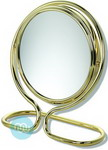 Travel mirror 10x magnification Chrome Finish, Mirror diameter 13cm.