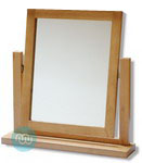 Brooklyn Oak dressing table mirror with adjustable tilt