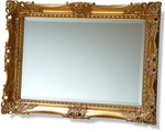 95mm wide Intricate and hand-carved Stunning Ornate Swept Frame with bevelled mirror, combining massive proportions with a craftsmanship rarely found.