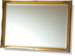51mm Wide Ornate Swept Frame Mirror with Bevelled Mirror 105 x 75cm