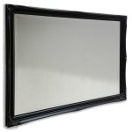 Simple Swept Black 2 Inch Real Wooden  Frame with Bevelled Mirror