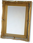 Chunky 140mm wide Real Wooden Decorative Swept Frame with bevelled Mirror