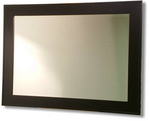 Very contemporary frame design in satin black, come with bevelled mirror and available in many sizes.