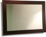 Our best selling contemporary frame design in very dark wenge finish, comes with bevelled mirror and available in many sizes.