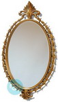 Stunning Large  Antique Decorative Oval Gold Frame with bevelled Mirror
