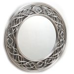 Circle Silver Intricate Round Frame Mirror 1092 x 1092 mm