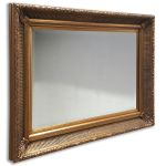 Gold Antique Effect  Rectangle Mirror 28 x 38 Inches