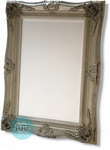 Beautiful Ornate Classic Rectangular Silver Swept Frame Mirror