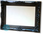 Stunning Classic Rectangular Black Swept Frame Mirror 965 x 1219 mm