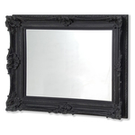 Classic Rectangular Ornate Black swept Frame Mirror 1219 x 1575 mm