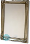 Classic Rectangular Silver swept Frame with bevelled mirror.