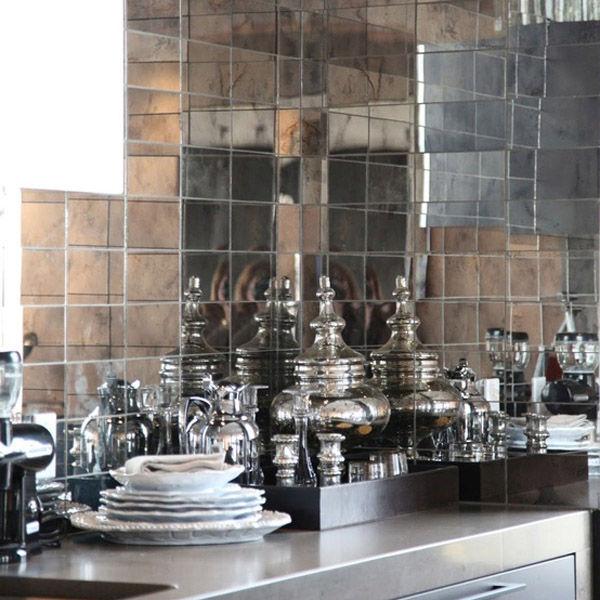 Mirrored Tiles Mirrorworld, Distressed Mirror Kitchen Tiles